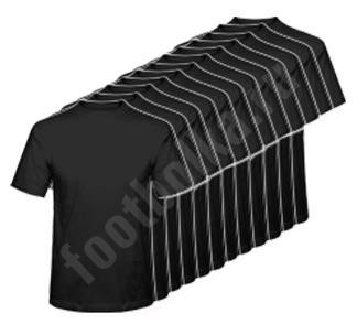 Годовой запас футболок, 12 штук (черные)