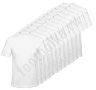 Годовой запас футболок, белые, 12 штук