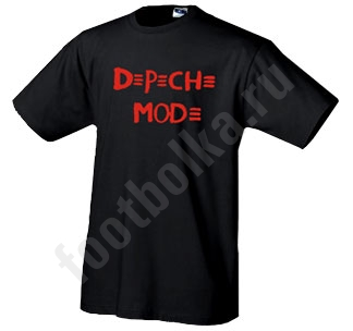 "Футболка ""Depeche Mode"" (красная надпись)"
