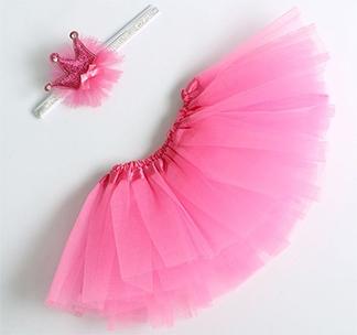 """Набор """"Маленькая принцесса: юбка, повязка"""" розовый"""