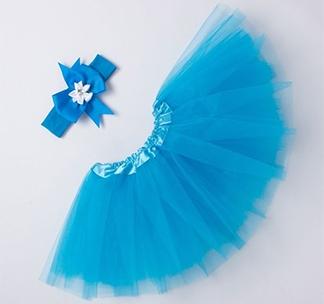 """Набор """"Маленькая принцесса: юбка, повязка"""" голубой"""