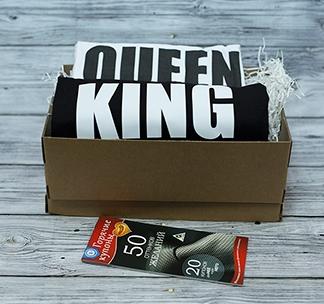 "Подарок на 14 февраля ""King 01 / Queen 01"" с купонами желаний"