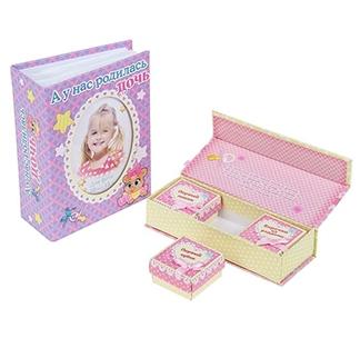 """Набор подарочный для новорожденных """"А у нас дочь"""""""