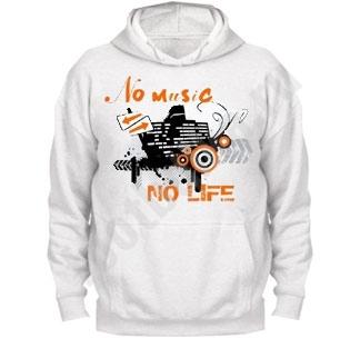 """Толстовка """"No music. No life"""""""