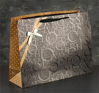"""Пакет подарочный """"с бантом"""" большой"""