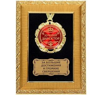 """Панно с медалью """"Лучший директор"""""""