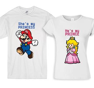 """Парные футболки для двоих влюбленных """"Марио"""""""