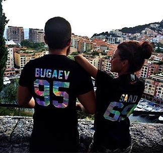 Парные футболки с фамилией и номером (голограмма)