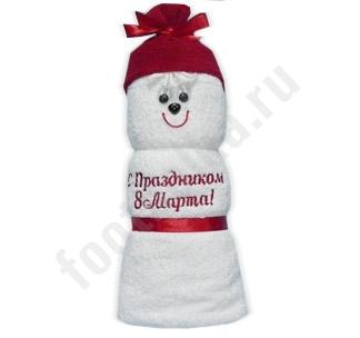 """Полотенце фигурка """"8 марта"""""""