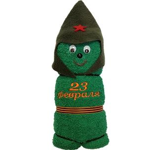 """Полотенце """"Солдатик 23 февраля"""" банное"""