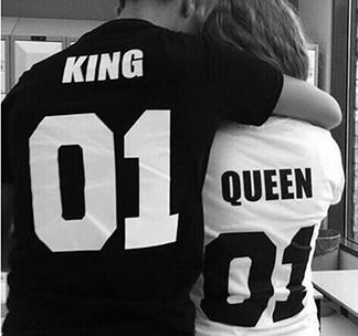 """Парные футболки """"King 01 / Queen 01"""""""