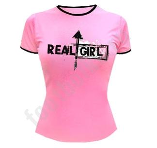 """Футболка женская """"Real girl"""""""