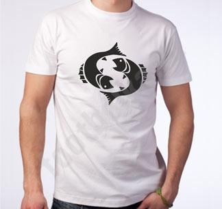 """Футболка """"Рыбы"""" знак зодиака"""