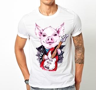 "Футболка ""Rocker pig"""