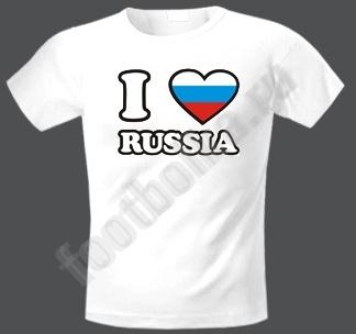 """Футболка  """"Я люблю Россию"""""""