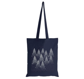 Холщовая сумка Silver Christmas арт. 70091.40