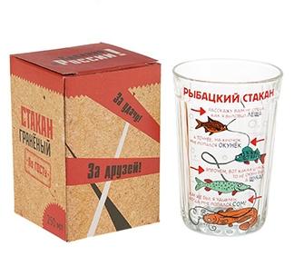 """Стакан граненый """"Рыбацкий стакан"""""""
