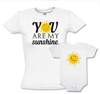 """Комплект для мамы и ребенка """"Sunshine"""" с боди"""