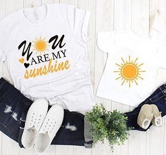 """Футболки для мамы и ребенка """"Sunshine"""" alex"""