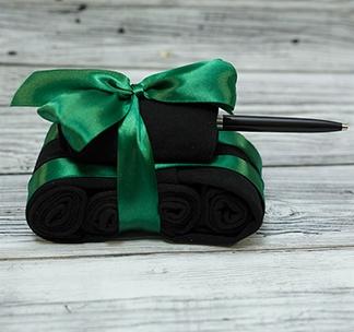 """Подарочный набор носков """"Танк"""" ручка"""