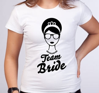 """Футболка для подружки невесты """"Team Bride"""" в стиле тиффани"""