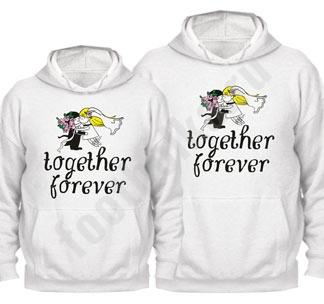 """Свадебные толстовки """"Together forever """""""
