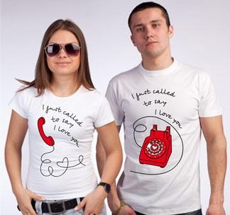 """Футболки для влюбленных """"Телефон"""""""