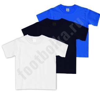 Комплект детских футболок без рисунка 3 шт