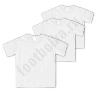 Комплект белых детских футболок (без рисунка) 3 шт