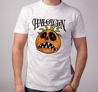 """Футболка halloween """"Тыква с черными глазами"""""""