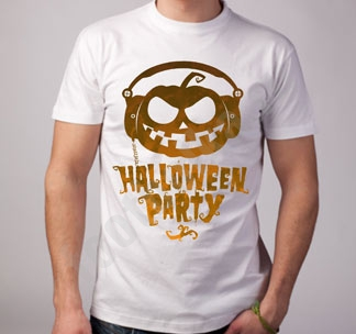 "Футболка halloween ""Halloween party"" с тыквой"