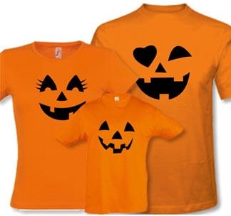 """Семейные оранжевые футболки """"Тыквы"""" halloween"""
