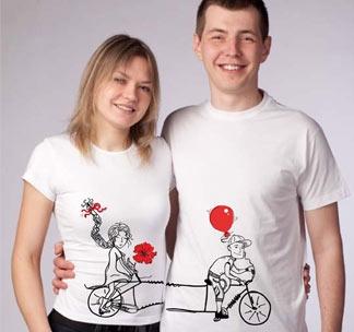 """Парные футболки """"Велосипед"""""""