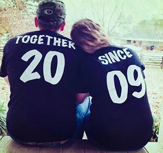 Парные футболки на годовщину свадьбы /укажите Вашу дату/