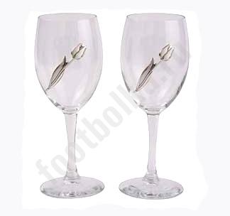 Подарочный набор: Два бокала с тюльпанами (CHINELLI) Z3133