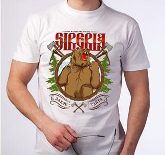 """Футболка """"Siberia. Закон. Тайга"""""""