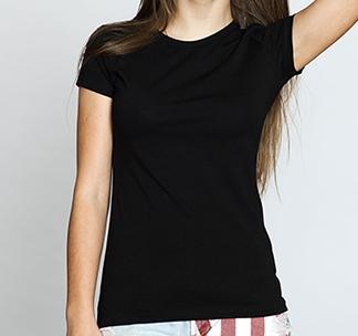 """""""Женская черная футболка"""""""