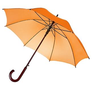 Зонт-трость с деревянной ручкой Оранжевый арт 393