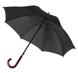 Зонт-трость с деревянной ручкой Черный арт 393.14
