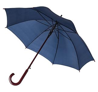Зонт-трость с деревянной ручкой Темно-синий арт 393