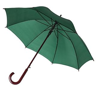 Зонт-трость с деревянной ручкой Зеленый арт 393.90